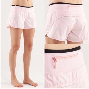 Lululemon turbo run shorts blush quartz